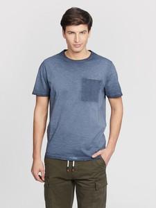Niebieski t-shirt Vistula z krótkim rękawem