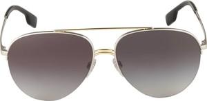 Złote okulary damskie Burberry