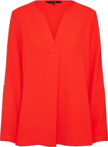 Czerwona bluzka Vero Moda z długim rękawem