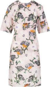 Sukienka Marni z okrągłym dekoltem w stylu casual z krótkim rękawem