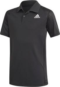 Czarna koszulka dziecięca Adidas z krótkim rękawem dla chłopców