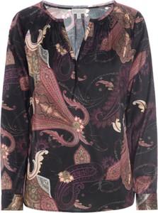 Bluzka Dea Kudibal z długim rękawem z jedwabiu