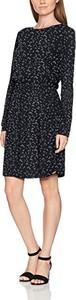 Czarna sukienka amazon.de z długim rękawem z okrągłym dekoltem