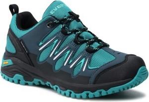 Turkusowe buty trekkingowe Everest sznurowane z płaską podeszwą