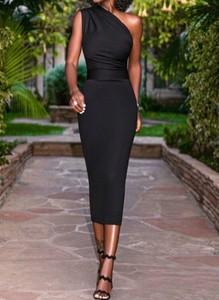Czarna sukienka Arilook ołówkowa bez rękawów