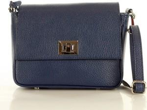 Niebieska torebka MAZZINI średnia matowa na ramię