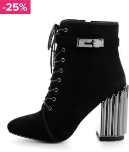 Czarne botki prima moda