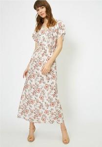 Sukienka Koton maxi w stylu boho z krótkim rękawem