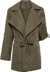 Zielony płaszcz bonprix w stylu casual