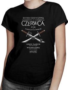 Czarny t-shirt Koszulkowy