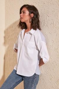 T-shirt Trendyol z długim rękawem w stylu klasycznym