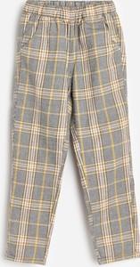 Żółte spodnie Reserved z bawełny