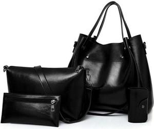 Czarna torebka Cikelly duża w stylu glamour lakierowana