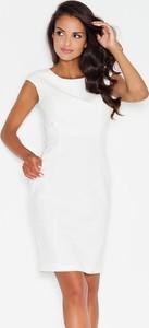 Sukienka Figl ołówkowa z okrągłym dekoltem