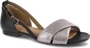 Sandały Maciejka ze skóry w stylu casual z płaską podeszwą