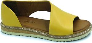 Żółte sandały Lanqier w stylu casual