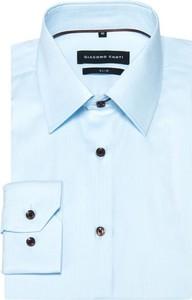 Miętowa koszula giacomo conti z bawełny
