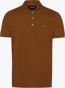 Brązowy t-shirt Lyle & Scott w stylu casual