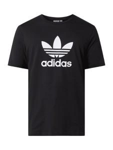 Czarny t-shirt Adidas Originals z bawełny w sportowym stylu z krótkim rękawem