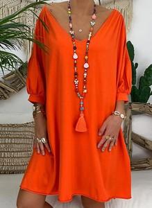 Sukienka Sandbella w stylu boho oversize z długim rękawem