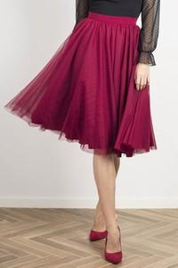 Różowa spódnica Wow Fashion z tkaniny