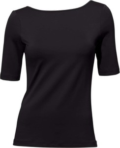 Czarna bluzka Heine w stylu casual z dżerseju