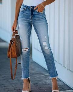 Niebieskie jeansy Kendallme z jeansu w stylu casual