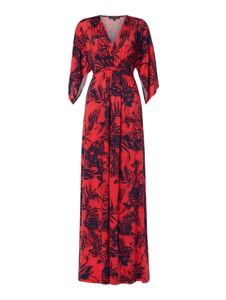 Sukienka Ilse Jacobsen z długim rękawem maxi z dekoltem w kształcie litery v