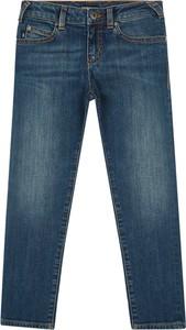 Granatowe spodnie dziecięce Emporio Armani
