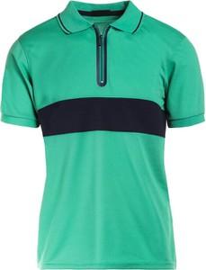 Zielona koszulka polo Multu z krótkim rękawem