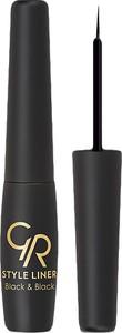Golden Rose Eyeliner w Płynie Style Liner Black & Black 6,5 ml