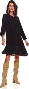 Sukienka Top Secret z długim rękawem w stylu casual koszulowa