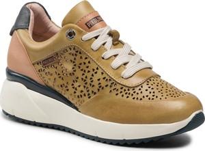 Brązowe buty sportowe PIKOLINOS na platformie