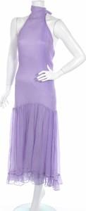 Fioletowa sukienka Milk & Honey maxi bez rękawów