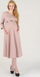 Różowa sukienka Danica Maternity