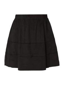 Czarna spódnica Noisy May mini w sportowym stylu