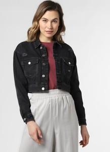 Czarna kurtka Tommy Jeans w stylu casual z jeansu krótka