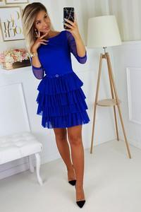 Sukienka Bicotone z okrągłym dekoltem mini