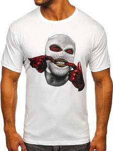 T-shirt Denley w młodzieżowym stylu z bawełny z nadrukiem