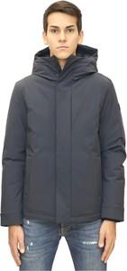 Niebieska kurtka Woolrich w stylu casual