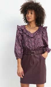 Bluzka Mohito z długim rękawem w stylu casual z dekoltem w kształcie litery v