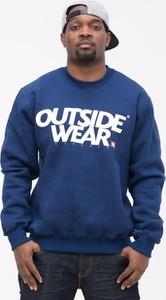 Niebieska bluza Outsidewear z bawełny