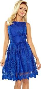 Sukienka NUMOCO rozkloszowana mini z dekoltem w łódkę