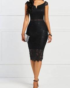 Sukienka Kendallme z okrągłym dekoltem ołówkowa midi