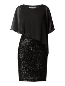 Czarna sukienka Christian Berg Cocktail z okrągłym dekoltem