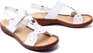 Sandały Rieker w stylu casual na rzepy z płaską podeszwą