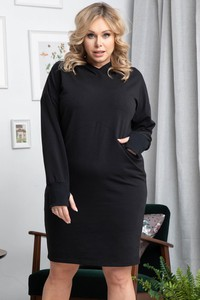 Czarna sukienka KARKO z dresówki