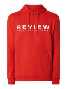 Czerwona bluza Review z bawełny z nadrukiem