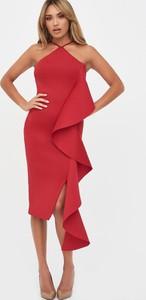 Czerwona sukienka Lavish Alice bez rękawów