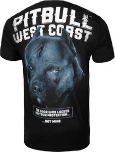 Czarny t-shirt Pit Bull West Coast z bawełny z krótkim rękawem